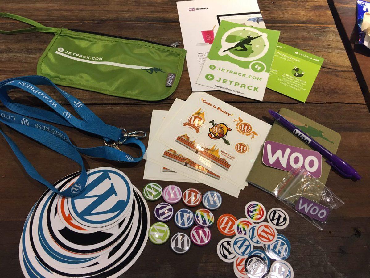 SWAG has arrived ! มาแล้ว ! ของที่ระลึกจากงาน WordCamp Bangkok 2017 !